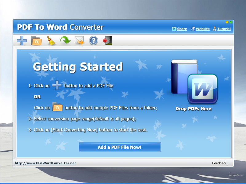 Click to view PDF To WORD Converter 2.0 screenshot